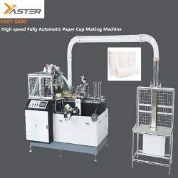 자동 초음파 이중 PE 고속 고온 커피 소독 가능 용지 컵 형성 기계 YaST-MD