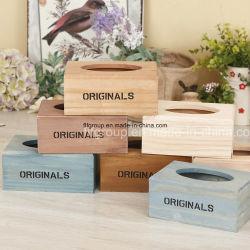 Nuevo diseño de caja de madera natural con el tamaño y color personalizado
