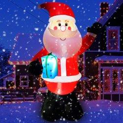 Dekoration Aufblasbare Weihnachtsmann Weihnachten mit Licht mit Geschenkbox Chxs1509-300
