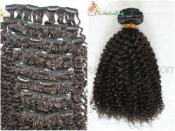 100% [برزيلين] [هومن هير] مشبك عميق مجعّد في شعر إمتدادات