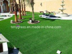 العشب الصناعي العشب الصناعي مع صافي الظهر والجودة العالية طلاء SBR Latex لللحن الطبيعية الصناعية