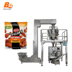 Bg automático con un peso de la presentación de maquinaria de embalaje Dumplings congelados