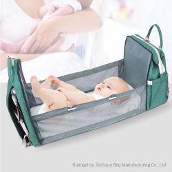 Bolsa de pañales impermeables multifunción mochila de viaje bolsas de pañales para el cuidado del bebé, de gran capacidad, elegante y duradero momia mochila con cama de bebé (BC1449-11)