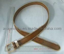 Mode boucle jaune de la courroie en cuir de PU Alliage (BL-3259A)