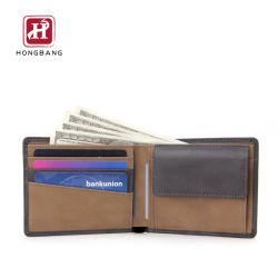 Ваш логотип Deboss Wallet мужчин Custom Wallet RFID