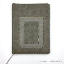Настраиваемые бизнес-ноутбук из натуральной кожи плечевой лямки ремня безопасности A5 Loose-Leaf печать журнала настройки ноутбука с логотипом