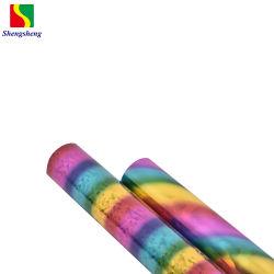 Foglio per l'impressione a caldo caldo multicolore olografico di alta qualità per il piatto di plastica