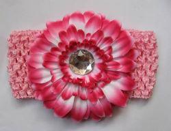 Daisy Flower Gebera Daisy, acessórios de cabelo, pêlos ornamento, crochê ajustável