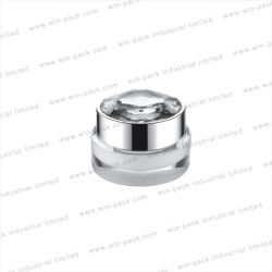 Winpack White Color Empty Cosmetic Acrylic Cream Jar Packing 50 G 20g 30g 75g
