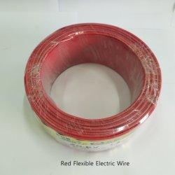 H07V-K festes rotes feuerverzögerndes hitzebeständiges kupfernes Leiter Belüftung-PET elektrischer Draht RoHS anerkannte Gebäude-Ausgangshaus-elektrisches kabel-Isolierverkabelung