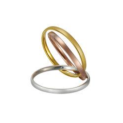 方法3部分宝石類のための3つのカラーによって織り交ぜられる固体真鍮指リング
