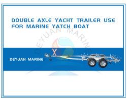 Los ejes de doble remolque Jocky yate barco con ruedas