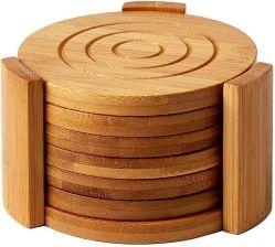 고품격 Bamboo Coaster와 홀더 셋팅 홈 오피스 회의 방 머그컵 마티 쿵푸 티 세트 액세서리