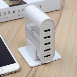 2020 Universal 5 puerto USB personalizada Multi 35,5W 2.4A USB dispositivo multi estación de carga para todos los teléfonos móviles