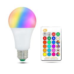 5W 220V bombillas LED RGB Lampadas LÁMPARA DE LED para el hogar 5050SMD Ampolla Bombilla de luz LED de 24 teclas de control remoto por infrarrojos