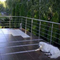 Tige en acier inoxydable résidentiel balustrade rambarde rampe d'escalier de la main courante