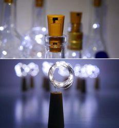 Bouchon de vase lampe de boîtier de batterie Chaîne de butée de fil de cuivre et de feux de fil d'argent