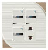 Три открыть два отверстия настенный переключатель разъема панели управления 3+1