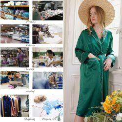 100% soie de luxe Lady's Nightwear Couple Pyjama sommeil