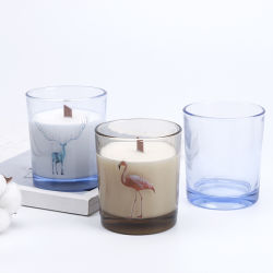 De gebemerkte Kandelaar van het Glas van de Kop van het Glas Nevel Afgedrukte voor de Decoratie van het Huwelijk