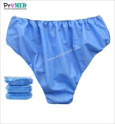 Белый/синий/розовый/черный авто-, биоразлагаемой нетканого материала/PP/SBPP/полипропилена/SMS одноразовые нижнее белье для мужчин и женщин