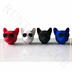 F4 Bonitinha Bulldog Cabeça Cão Portátil Volume alto-falante Bluetooth com suporte por telefone
