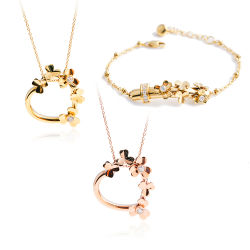 Mode Bijoux Bijoux en acier inoxydable ensemble femmes Necklace