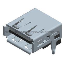 Elemento de carga digitales USB Conecte el cable de datos USB 2.0 de Af el conector del cable USB