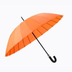 Manuel d'Orange parapluie droites à bon marché de gros ouverts pour la promotion