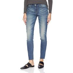 Новые дамы Vintage Fashion Skinny хлопок промыть Holded Denim Джинсы