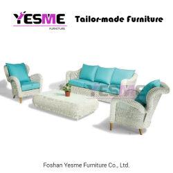 Китайский Современный открытый диван, патио с садом Home Отель гостиной гостиная задает раунда плетеной плетеной кресло для отдыха в таблице мебель из алюминия