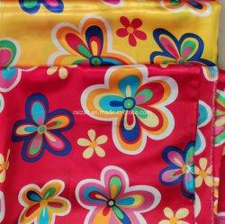 Tecidos de poliéster Pano Tecido acetinado suave e Shinning Silkiness impresso