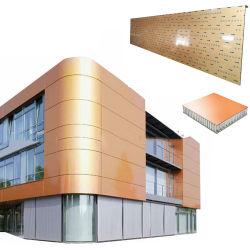 Panel Compuesto de nido de abeja de aluminio para muro exterior revestimiento y decoración.