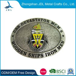Venda por grosso personalizado 3D o logotipo de moda do tecido do cinto de ligas de zinco/bronze/Western Antique Prata metálico ajustável pino de travamento de cinto de couro (correia-038)