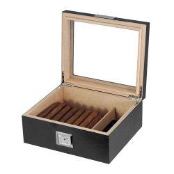 贅沢なカシの無光沢のラッカーを塗られた木のシガーの保湿箱のギフト用の箱