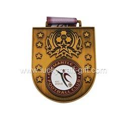 De in het groot Medaille van de Voetbal van het Gouden Plateren van het Metaal van de Toekenning van de Sporten van de Douane Antieke