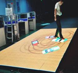 Se encienden programables de iluminación de escenarios de cristal templado interactiva sensible a la pista de baile de LED Portátil