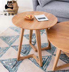 Novo Mobiliário Arrivial Nordic Hotel folheado de MDF Round mesa lateral mesa de café