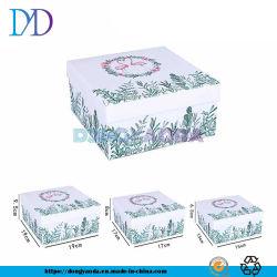 Diseño personalizado de lujo de mayorista de Flamingo papel Arte+Placas gris pastel de la caja de regalo con papel Craft Cuadro interior Imprimir