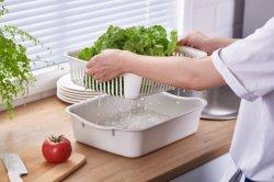 Küche-große Plastikreinigung-Filterglocke und Grobfilter für Frucht, Gemüse und mehr