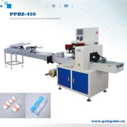 자동 OPP PE 필름 밀봉 일회용 플라스틱 커피 컵 흐름 포장 기계 계수