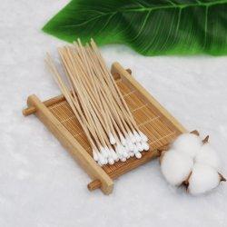 Wundsorgfalt-medizinischer Baumwollknospe-Putzlappen, chirurgische Baumwollputzlappen Skincare, kundenspezifisches Baumwollputzlappen-Applikatoren-Holz