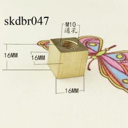 Fixation en laiton de gros filetage M10 de l'éclairage des feux de la poignée de commande de pièces accessoires