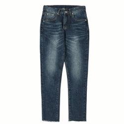 Les hommes Pantalon Slim Vintage occasionnel Jeans avec bords rugueux