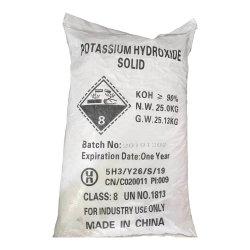 薄片のフォーマットのアフリカの市場のための産業等級の水酸化カリウム