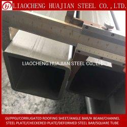 Plaza de cuerpos huecos rectangulares de tubo de acero galvanizado Redondo negro