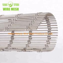 Rete metallica decorativa unita tessuta personalizzata dell'acciaio inossidabile