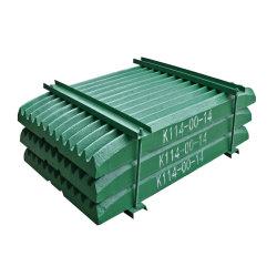Hohe Mangan-Stahlplatten-Kiefer-Zerkleinerungsmaschine-Platten-Abnützung-Teile für Minenmaschiene