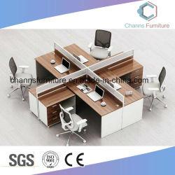 Blocco per grafici di alluminio trasversale con la stazione di lavoro del divisorio del comitato per 4 persone CAS-W1854