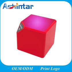 Mini-Cube altifalante sem fios com mãos livres de luz LED de alto-falante Bluetooth